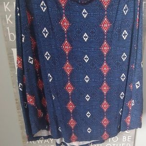 Maurices Tops - Blue patterned tank top